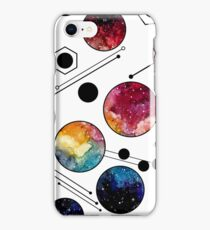 Watercolor Colorful Galaxy in Circles iPhone Case/Skin