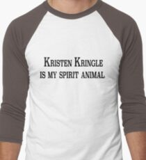 Kristen Kringle is my Spirit Animal Men's Baseball ¾ T-Shirt