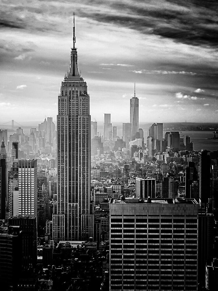Skyline de la ciudad de Nueva York de cadinera