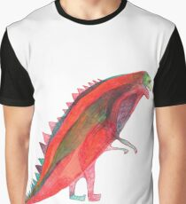 Red Dinosaur Graphic T-Shirt