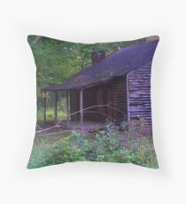 in a cabin... Throw Pillow