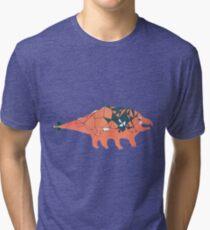 Ankylosaurid Dinosaur Tri-blend T-Shirt