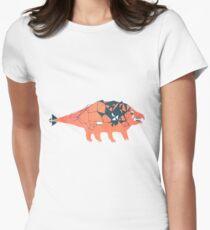 Ankylosaurid Dinosaur Women's Fitted T-Shirt