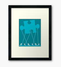 team puzzle Framed Print