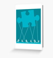 team puzzle Greeting Card