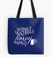 Wibbly Wobbly Timey Wimey - Version Blue Tote Bag
