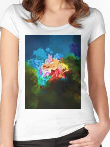 Rainbow in a Rose Women's Fitted Scoop T-Shirt