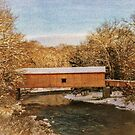 COVERED BRIDGE AFTER THE SNOW by browncardinal8