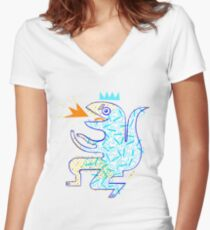 Dinosaur Arrrrr! Women's Fitted V-Neck T-Shirt