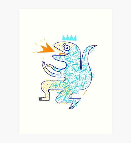 Dinosaur Arrrrr! Art Print