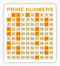 prime numbers Sticker