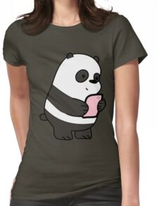 Panda Baby Womens Fitted T-Shirt