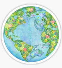 Floral Earth Sticker