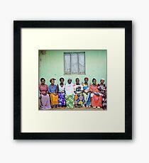 African village women Framed Print