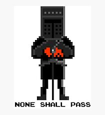 Black Knight - Monty Python and the Holy Pixel Photographic Print
