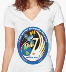 Cygnus CRS OA-7 Patch Women's Fitted V-Neck T-Shirt