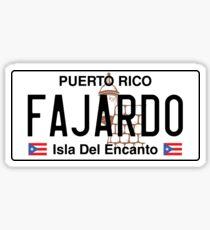 PR Plate - Fajardo Sticker