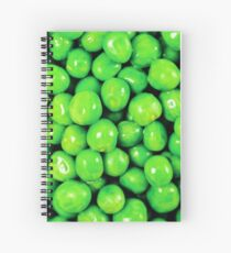 Pile Of Fresh Green Peas Top View Spiral Notebook
