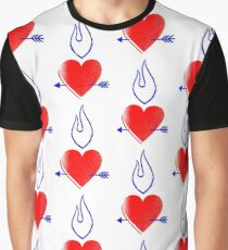 Flaming heart with arrow Graphic T-Shirt