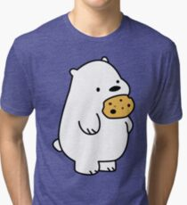 Ice Bear Cookies Tri-blend T-Shirt