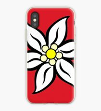 Edelweiss on Red iPhone Case