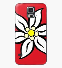 Edelweiss on Red Case/Skin for Samsung Galaxy