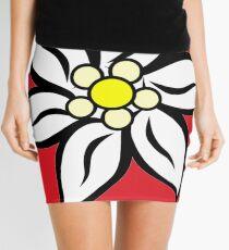 Edelweiss on Red Mini Skirt
