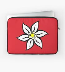 Edelweiss on Red Laptop Sleeve
