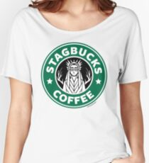 Elves at Stagbucks Women's Relaxed Fit T-Shirt