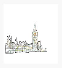 London Skyline with the tube Photographic Print