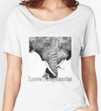 African Elephants with trunks entwined Women's Relaxed Fit T-Shirt