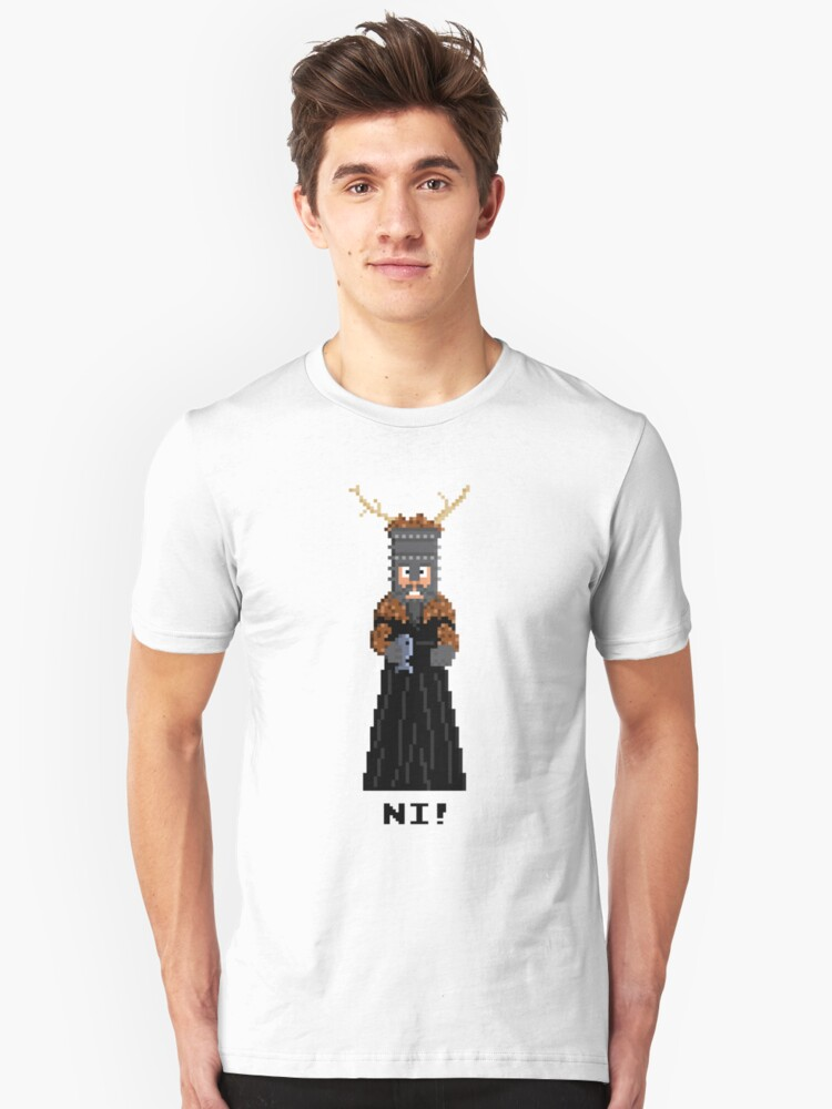 Knight of Ni - Monty Python and the Holy Pixel Unisex T-Shirt Front