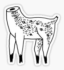 Headless Doe drawing Sticker