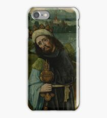 Anonymous, - King Melchior, One Of The Three Magi, Pointing At The Star, Fragment From An Adoration Of The Magi  1490 iPhone Case/Skin