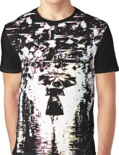 LADY  IN THE RAIN Graphic T-Shirt