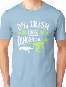 0% Irish 100% Dinosaur Unisex T-Shirt