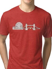 London Eye and tower bridge, London design Tri-blend T-Shirt