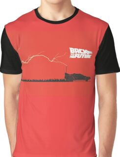 Back to the Future- Time Machine Struck By Lightning Graphic T-Shirt