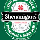 Saint Patrick's Day Shenanigans Beer Label by vomaria