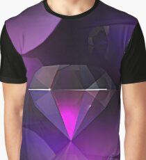 Purple Diamond Graphic T-Shirt