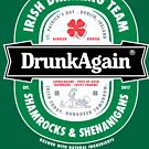 Saint Patrick's Day Drunk Again Beer Label by vomaria