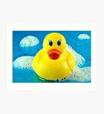 Bubble Duck Art Print