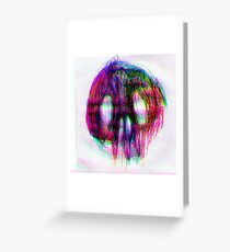 Neon Skull Greeting Card