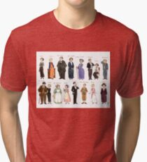 Downton Abbey portraits Tri-blend T-Shirt