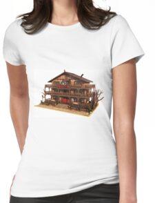 Cartoon Western Saloon Womens Fitted T-Shirt