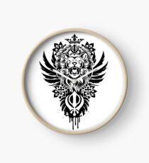 Khanda Warrior Clock