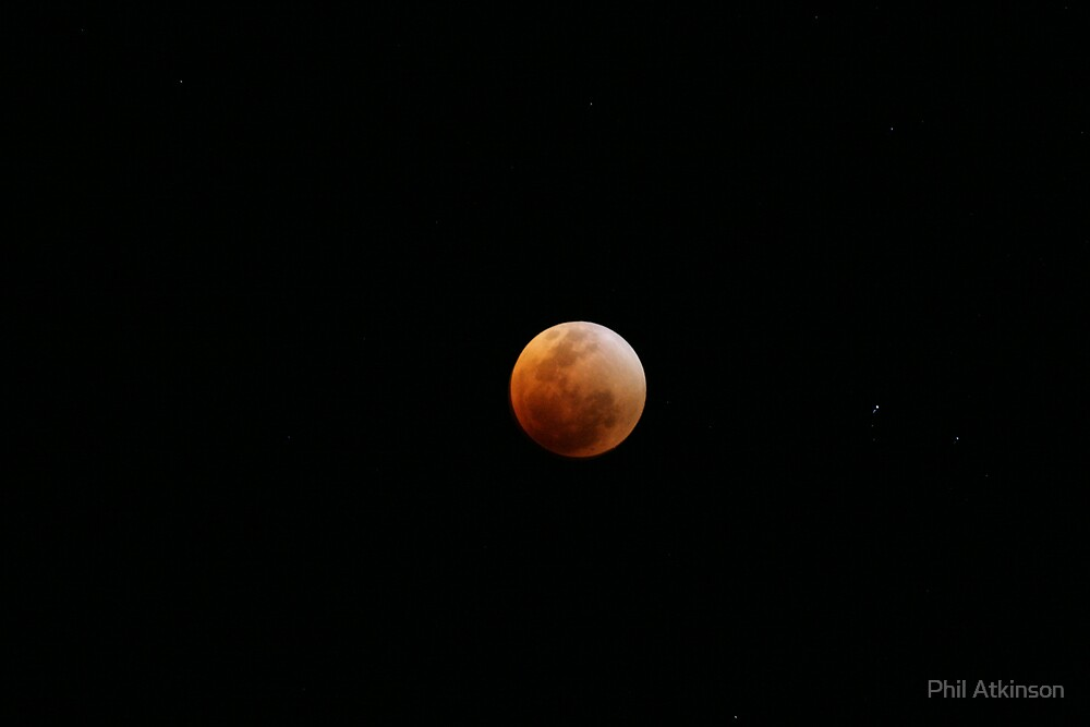 Red moon eclipsed by Phil Atkinson