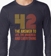 The answer is 42 Long Sleeve T-Shirt