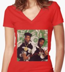 Eric B and Rakim - Paid in Full Women's Fitted V-Neck T-Shirt