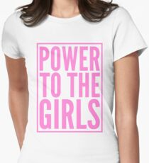 Power to the Girls Womens Fitted T-Shirt